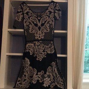 Yoana Baraschi  xs Black Beige Print Dress
